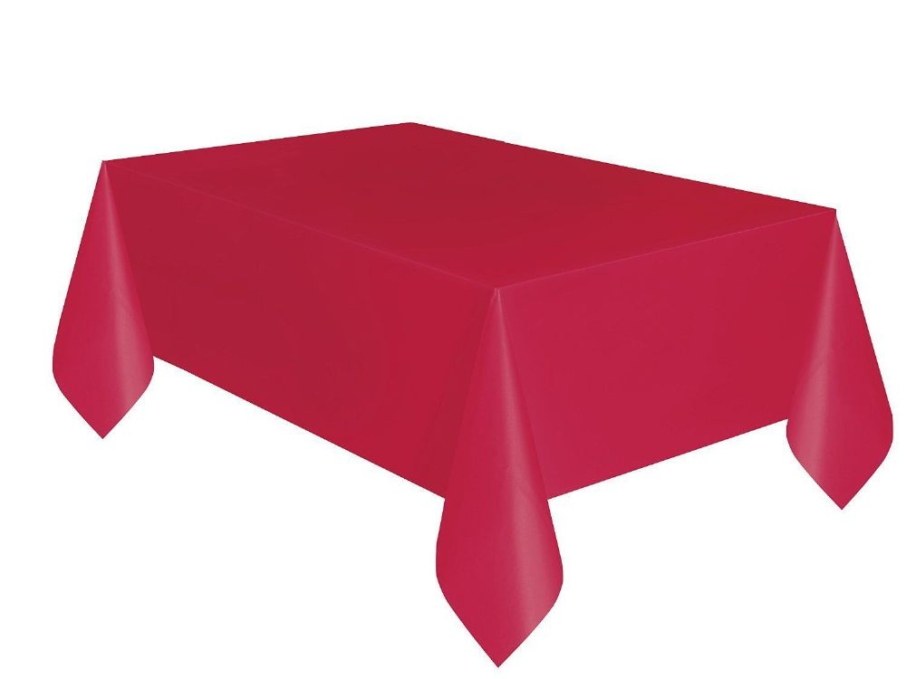 Christmas party ideas red 9 x 4 5 ft x for Christmas table cover ideas